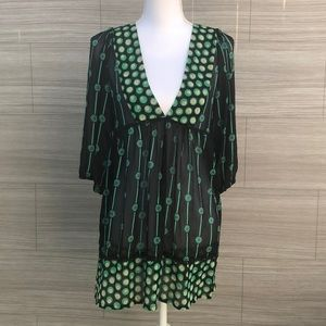 F21 long sleeve Floral Tunic Dress Size M